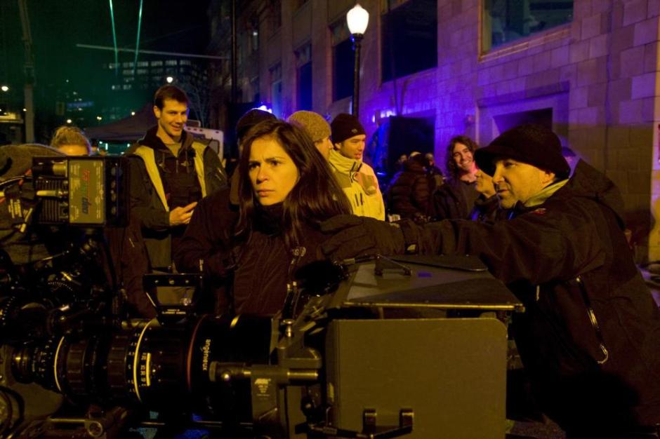 PUNISHER: WAR ZONE, foreground center: director Lexi Alexander, on set, 2008. ©Lions Gate