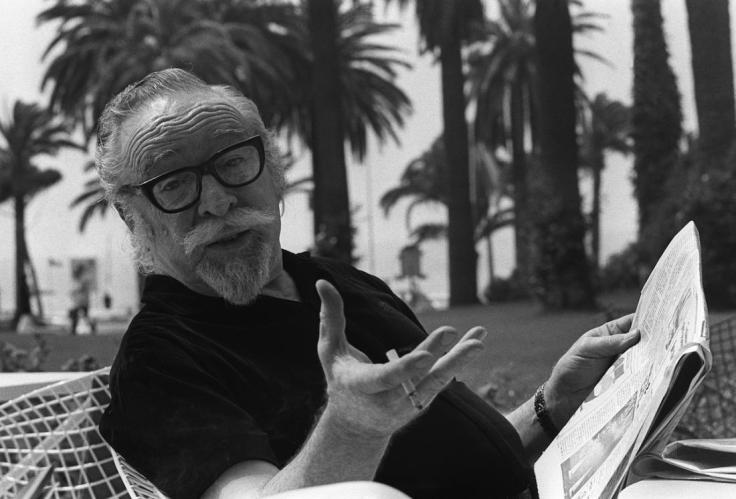 CANNES, FRANCE: American movie director Dalton Trumbo pose for photographer 17 May 1971 in Cannes as he presents his latest movie