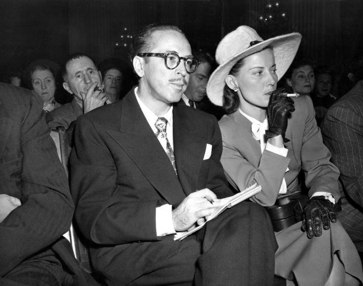 Далтон и Клео Трамбо на слушаниях в HUAC