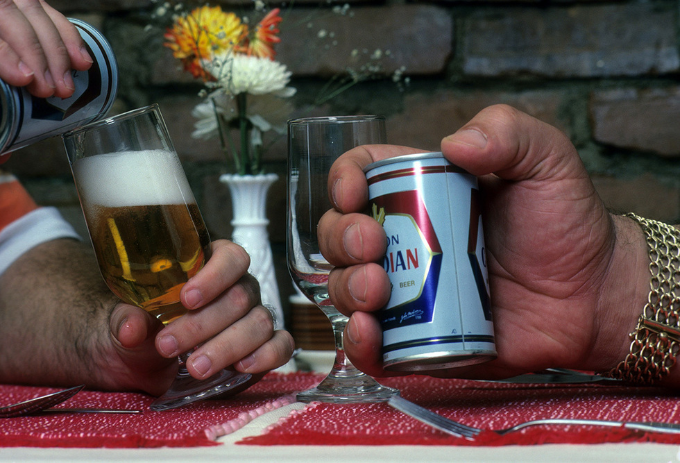 Professional Wrestling: Closeup portrait of hand of Andre The Giant Roussimhoff holding Molson Canadian beer can during photo shoot at his Le Picher restaurant. Montreal, Canada 8/5/1981CREDIT: Stephen Green-Armytage (Photo by Stephen Green-Armytage /Sports Illustrated/Getty Images)(Set Number: X25898 TK1 R11 F13 )