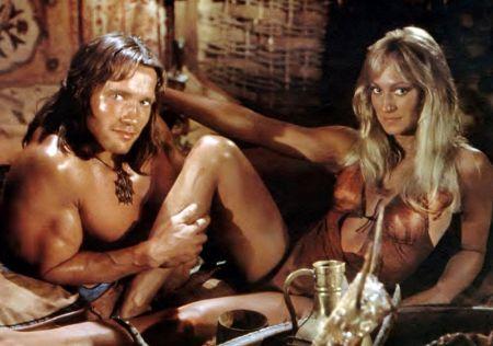 CONAN THE BARBARIAN, from left: Arnold Schwarzenegger, Sandahl Bergman, 1982, © Universal